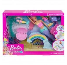 Papusa Barbie Gradinita de sirene cu accesorii
