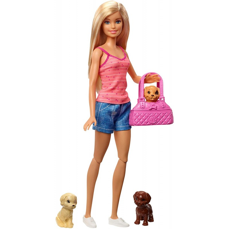 Papusa Barbie - imbaierea cainilor