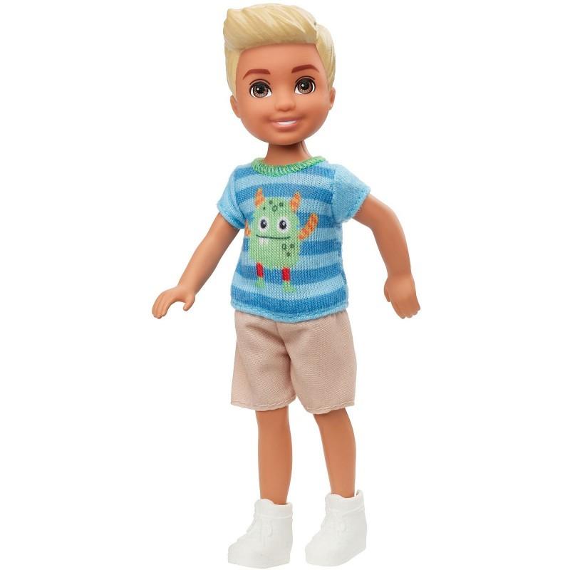 Papusa Barbie - Papusica Chelsea baiat in tricou model monstrulet
