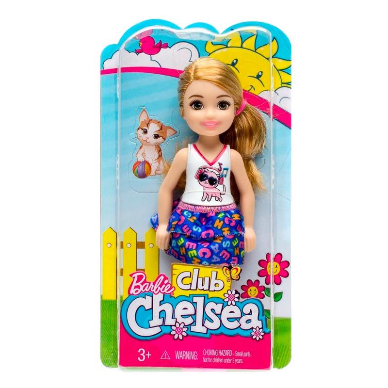 Papusa Barbie - Papusica Chelsea blonda in tricou cu pisicuta