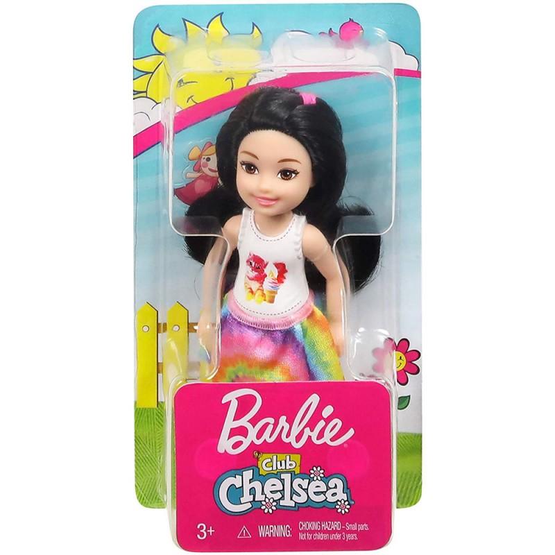 Papusa Barbie - Papusica Chelsea bruneta in tricou cu pisicuta