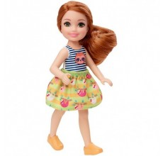 Papusa Barbie - Papusica Chelsea in tricou model lenes