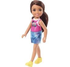 Papusa Barbie - Papusica Chelsea satena in tricou cu catel