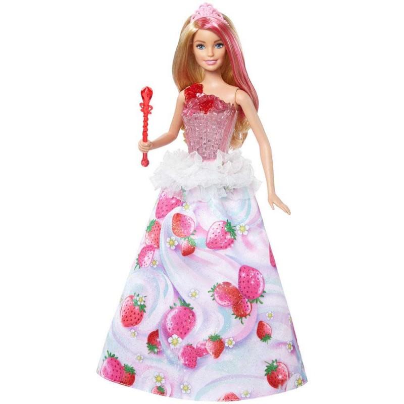 Papusa Barbie - Printesa Dreamtopia Sweetville cu sunete si lumini