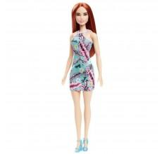 Papusa Barbie roscata cu rochita verde