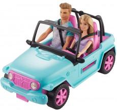 Papusa Barbie si Ken cu masina