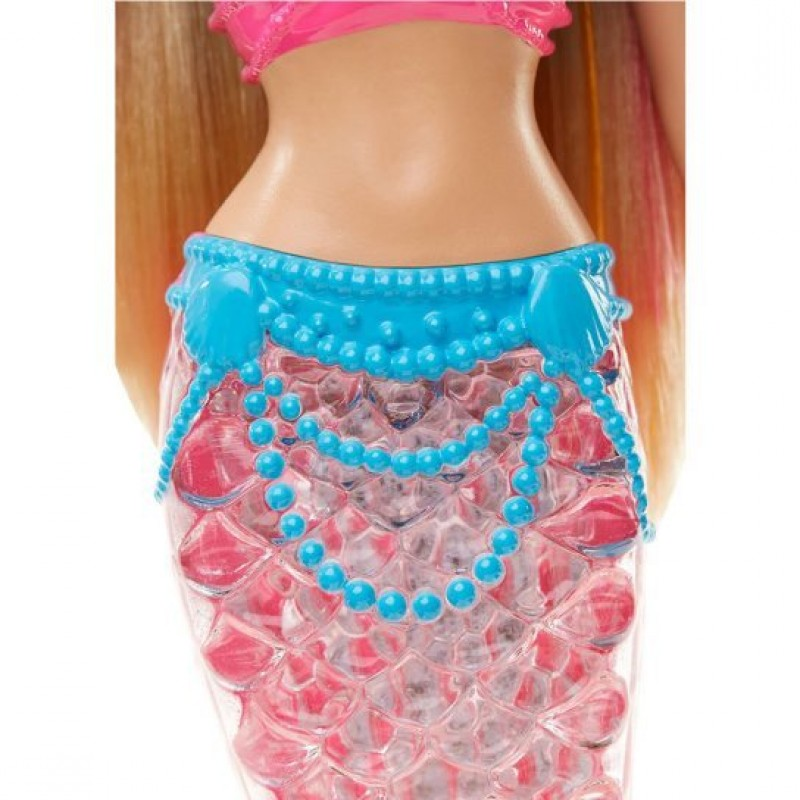 Papusa Barbie Sirena curcubeu cu coada luminoasa
