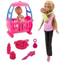 Papusa Betty cu bebelusi si accesorii