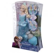 Papusa Elsa Frozen Disney cu rochita care i se schimba culoarea
