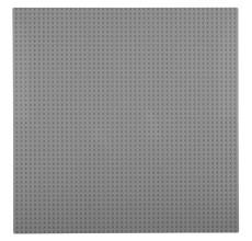 Placa pentru constructii - compatibila LEGO dimensiune medie (gri inchis)