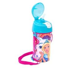 Recipient apa Barbie cu pai 500 ml