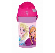 Recipient apa Frozen Disney cu pai 500 ml