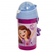 Recipient apa Printesa Sofia Intai Disney cu pai 500 ml