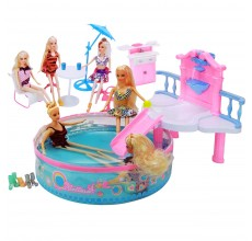 Set piscina, papusa si accesorii