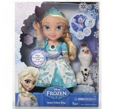 Papusa Elsa Frozen Disney cantareata si omul de zapada Olaf