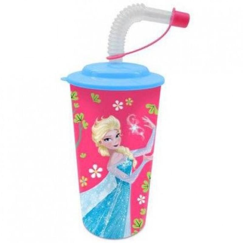 Pahar Frozen Disney cu pai din plastic