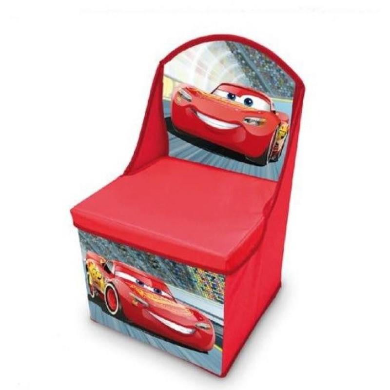 Scaun si cutie pentru depozitare Cars Disney