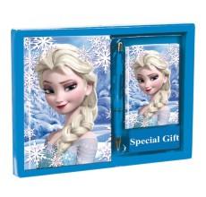 Set cadou - Jurnal, carnetel si pix Elsa Frozen Disney