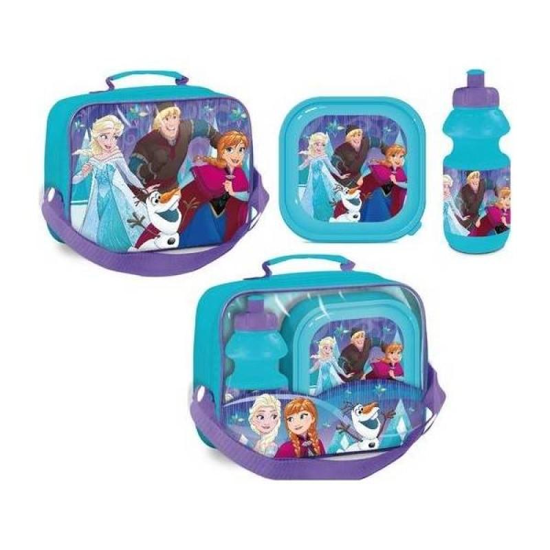 Set gentuta, cutie pranz si recipient apa Frozen Disney