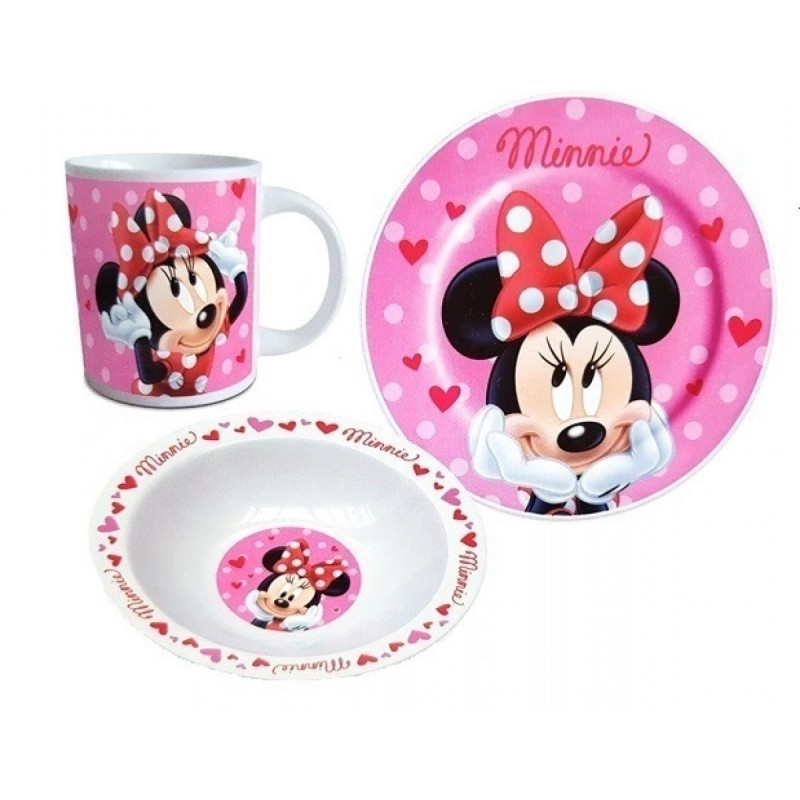Set mic dejun Minnie Mouse Disney - ceramica
