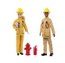 Set de joaca - Papusa Barbie si Ken (pompieri)