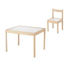 Set - Masuta si scaunel din lemn pentru copii