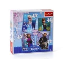 Puzzle Frozen Disney 4 in 1