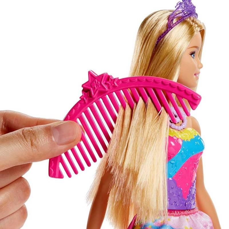 Papusa Barbie - Printesa Dreamtopia cu leagan curcubeu