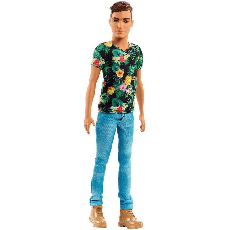Papusa Ken Fashionistas - in tricou cu model ananas